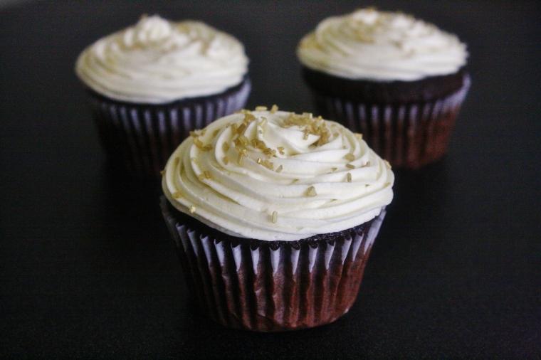 Gluten-Free Chocolate Vanilla Cupcake