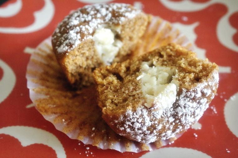 Gluten Free Pumpkin Cream Cheese Muffins