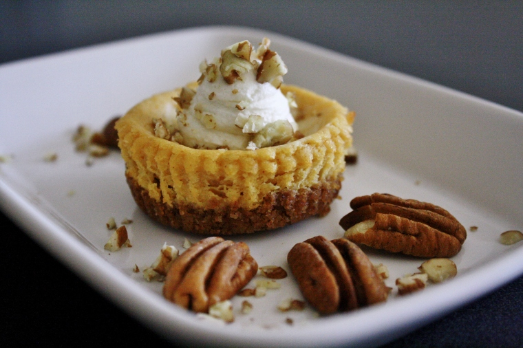 Goat Cheese Cheesecake pumpkin goat cheese cheesecakes with maple whipped cream | cakes