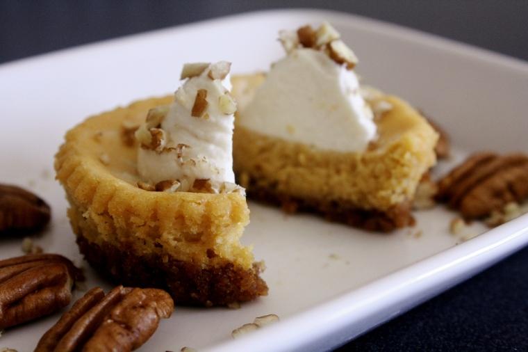 Gluten Free Pumpkin Goat Cheese Cheesecake