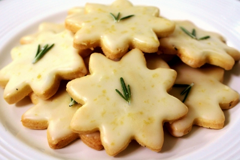 Gluten-Free Lemon-Rosemary Shortbread