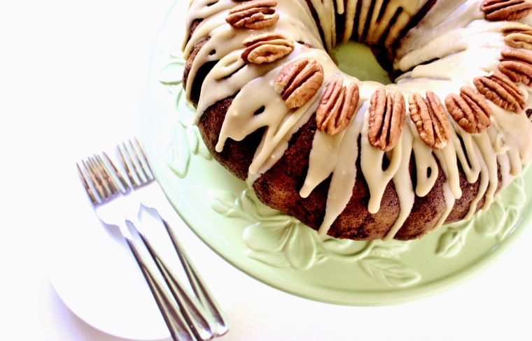 Gluten-Free Apple  Cream Cheese Bundt Cake
