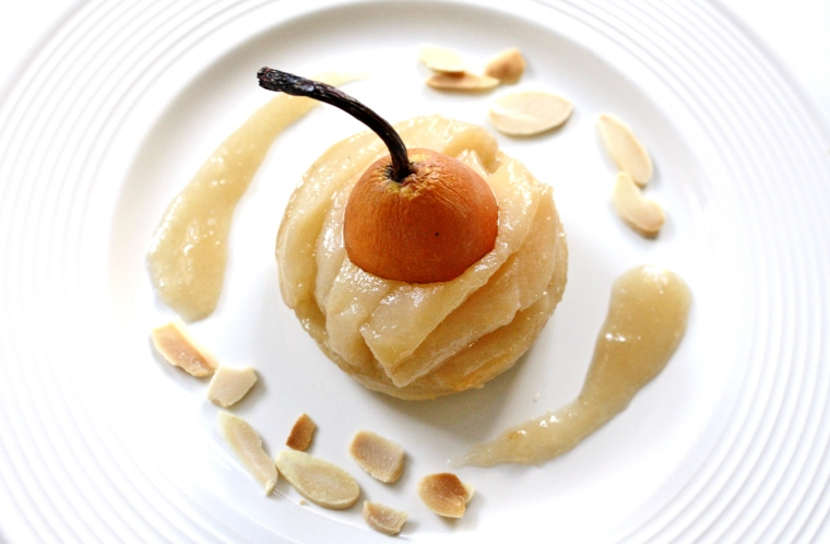 Gluten-Free Vegan Salted Caramel Pear Tart