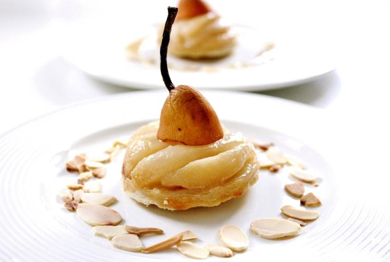 Gluten Free Vegan Salted Caramel Pear Tart
