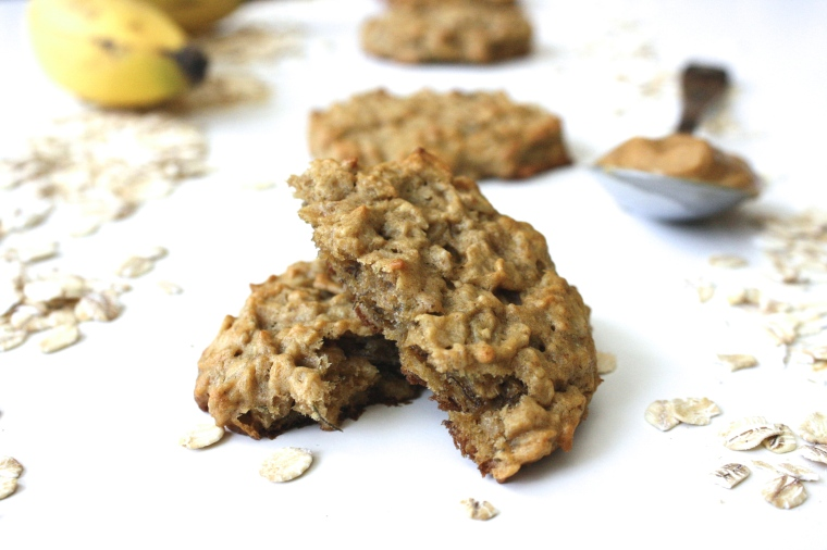 Gluten-Free Peanut Butter Banana Oatmeal Cookies