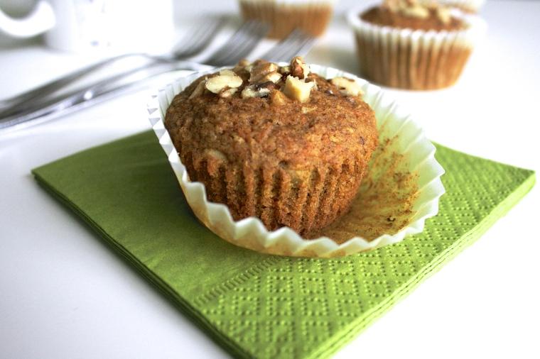 Gluten-Free Vegan Carrot Cake Muffins