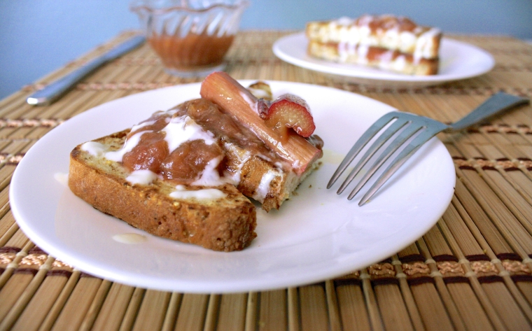 Gluten-Free Rhubarb Lemon French Toast