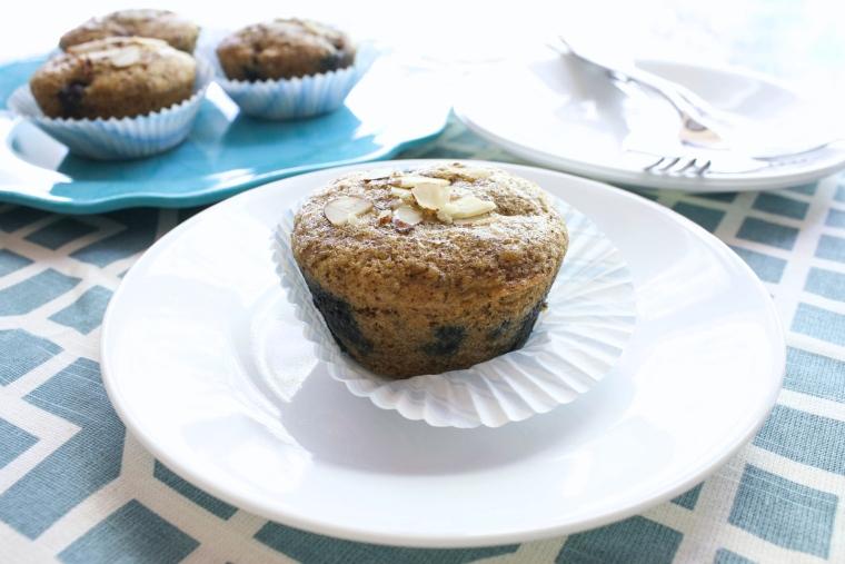 Gluten-Free Almond Blueberry Muffins