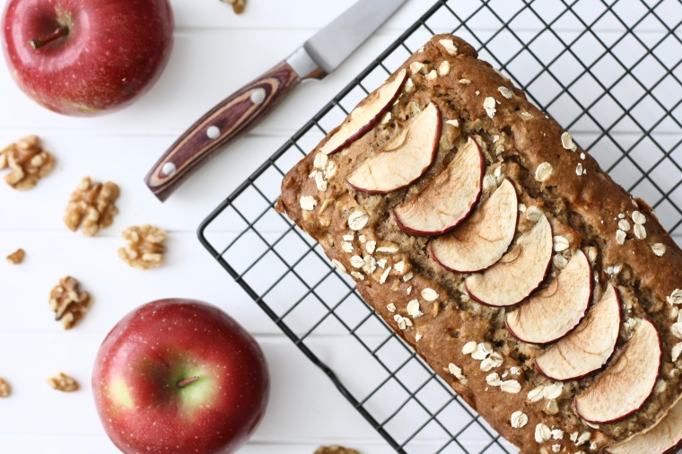 Gluten-Free Apple Walnut Oat Bread