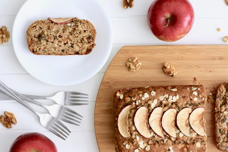 Gluten-Free Apple Walnut Oat Bread