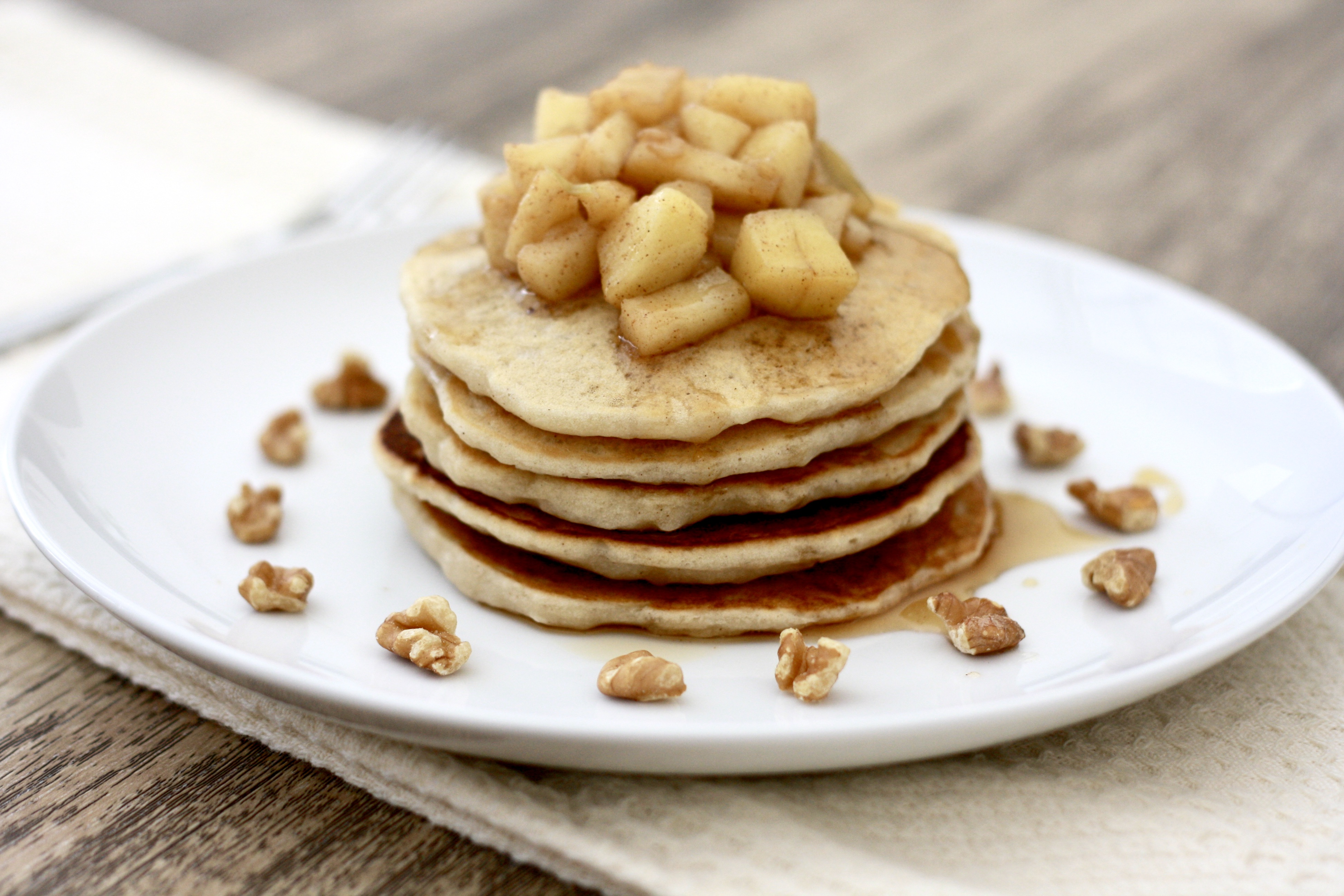 Gluten-Free Vegan Caramelized Apple Pancakes